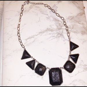 Jewelry - ⭐️Charcoal Colored Statement Necklace Black Silver